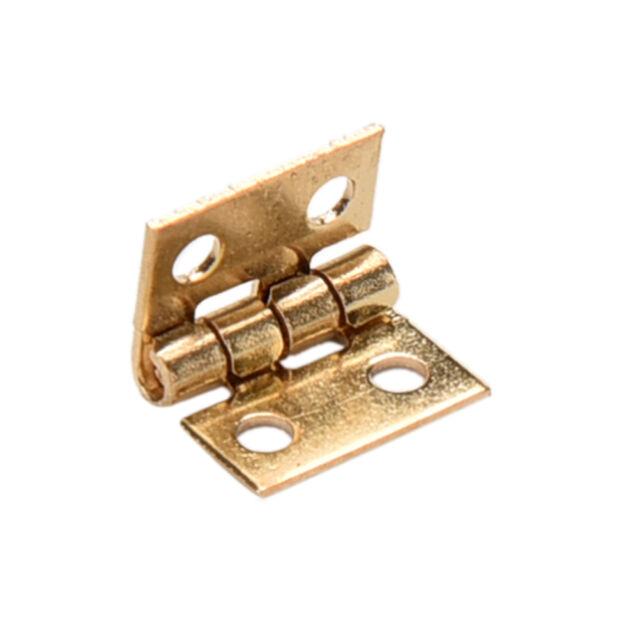 10x Mini Brass Plated Hinge - Small Decorative Jewelry Cigar Box Hinges EB