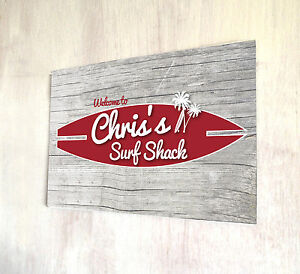 Personalised with any name Welcome Best Bar Red /& Blue Beer Label A4 metal sign