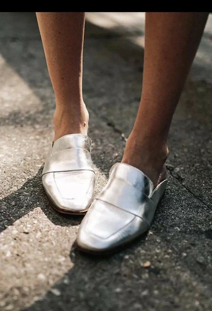 Free People at Ease Mocassin argent 38 NEW IN BOX
