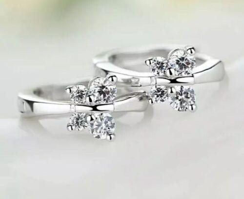 Klapp Creolen Schmetterling Silber 925 Sterlingsilber Damen Kreolen Ohrringe
