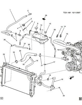 New NOS OEM GM Radiator Supply Surge Tank 3056644 1985-1988 Chevy Large Truck
