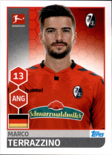 Marco Terrazzino Sticker 91 TOPPS Bundesliga 2017//2018