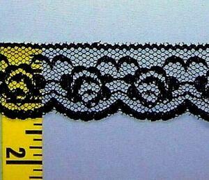 "Scalloped Lace Edging Vintage Floral Flat Lace Trim 4-3//4/"" Brown 10 yds #C3"