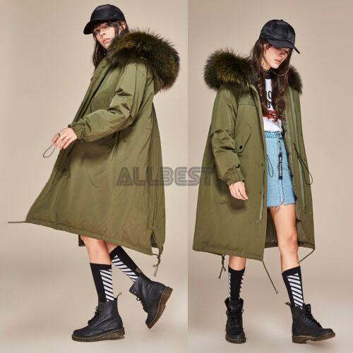 Down Coat Jacket Kvinders Parka Large Fashion Raccoon Fur Duck 90 hvide Real Long q6CwtUC