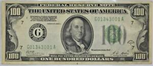 1928-A $100 Federal Reserve Note; Fr.-2151G; XF