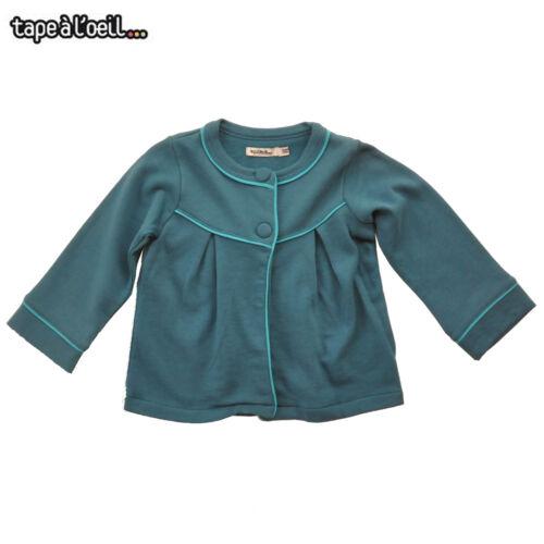 Tapealoeil Toddler Girls Tranquil Blue Blazer//Jacket Size 12M Last Chance!