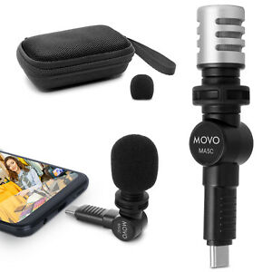 Movo MA5C Mini Microphone for Android and USB Type-C Smartphones and Tablets