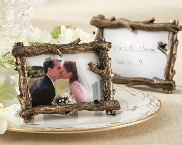 75 Rustic Fall Tree Branch Photo Frame Place Card Holder Forest Wedding Favor