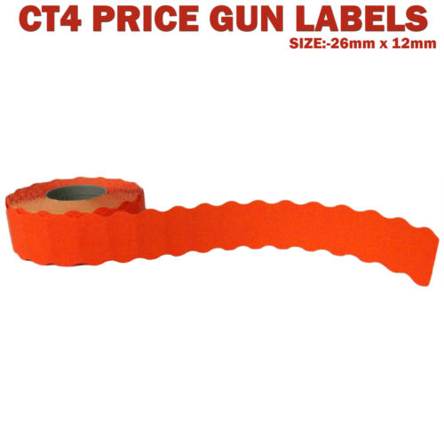 Motex 2612  Price Gun Labels CT4 26mm x 12mm in colours and printed