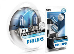 w5w parkers new h7 philips diamond vision 5000k ultimate white light bulbs ebay. Black Bedroom Furniture Sets. Home Design Ideas