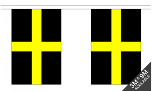 10 flag bunting 3 metre long St Davids