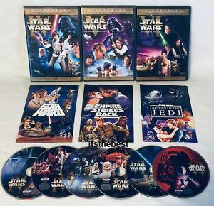 ✅ Star Wars Original Theatrical Trilogy DVD A New Hope Empire Strikes Back Jedi