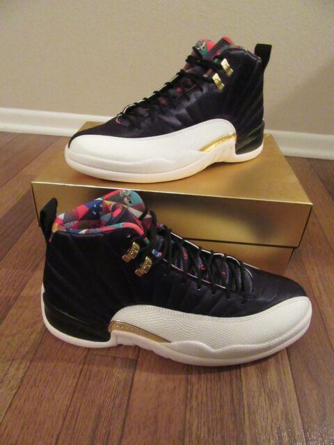 c781ec307a84 Nike Air Jordan 12 Retro CNY Size 12 Black True Red Sail CI2977 006 New NIB