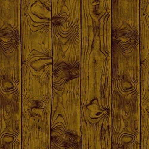 Andover Barnyard Babies A 8587 KN Walnut Wood Panels Cotton Fabric