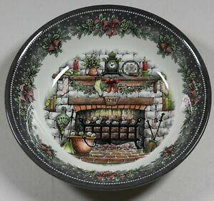 Royal-Stafford-Christmas-Eve-Fireplace-Soup-Cereal-Bowl-Made-in-England