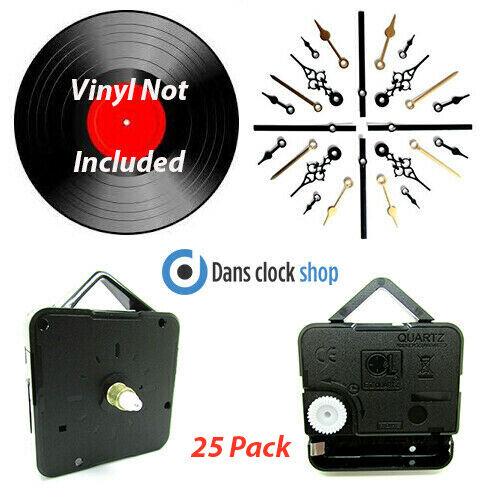 25 Packung 7'' & 12'' Vinyl Record Uhr Herstellung Set Konvertieren Ihre