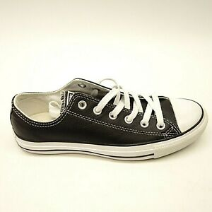 New-Converse-Womens-Chuck-Taylor-All-Star-Low-Top-Black-Leather-Shoes-Size-6-5