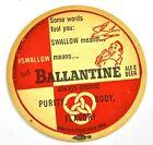Ballantine Cerveza & Ale Cerveza Posavasos de cerveza Base Coaster Ee.Uu.