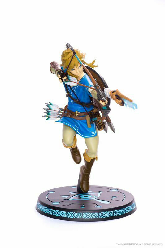 FIRST 4 FIGURES THE LEGEND OF ZELDA BREATH OF THE WILD LINK 25CM STATUE NUOVO