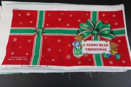 VIP Cranston A Teddy Bear Christmas Cotton Soft Book Fabric Sewing Panel