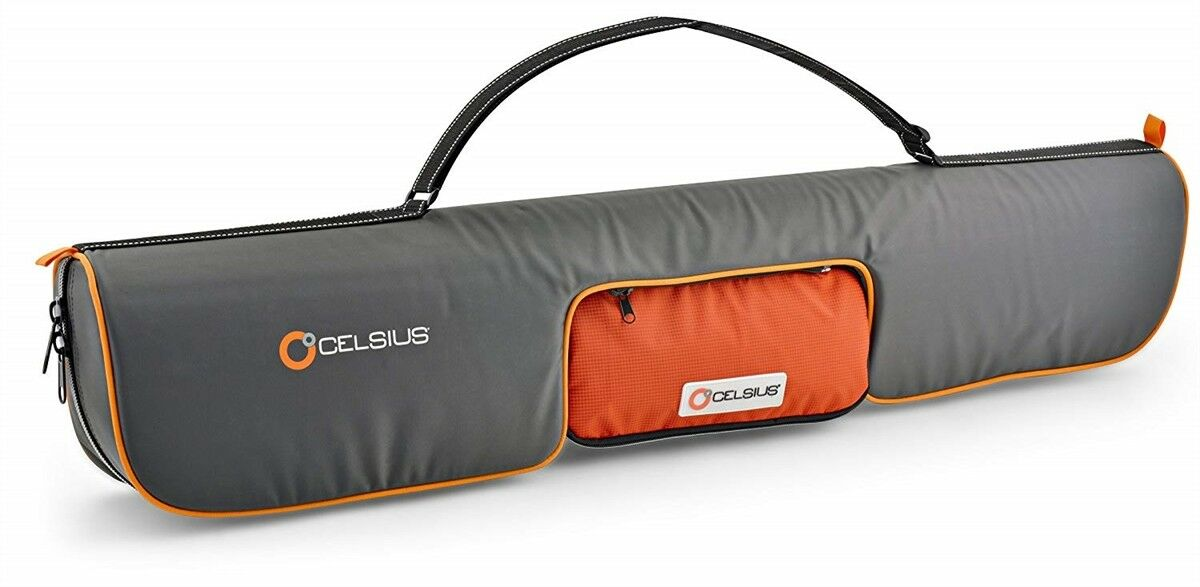Celsius Deluxe Ice Fishing  Rods 38  Predective Hard Liner Case   Bag CEL-DELRC  big savings