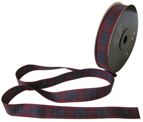 cut lengths /& 25m reels Pride of Scotland Autumn Tartan Ribbon; various widths