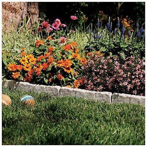 Stone Border Edging For Gardens Suncast resin faux stone border edging lawn landscape garden flower image is loading suncast resin faux stone border edging lawn landscape workwithnaturefo
