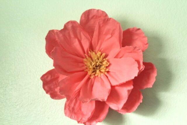X Large Crepe Paper Flower 15 Diameter Wall Hanging Ebay