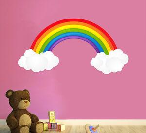 Mur-Arc-en-ciel-autocollant-stickers-decalcomanie-Chambre-A-Coucher-Pour-Enfants