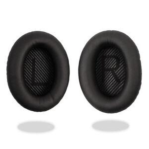 Black-Ear-Cushion-Kit-Bose-QuietComfort-35-QC35-Headphones-Pads-Cups-Replacement