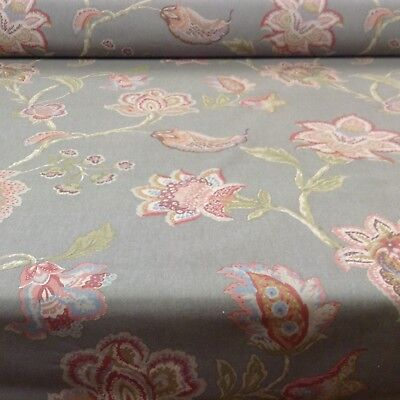 "Vintage Linen Petite Toile  Grey 140cm//54/"" Curtain//Craft Fabric"