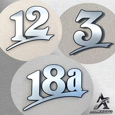 Gutherzig Edelstahl Hausnummer 16cm 20cm 30cm,123456789,a,b,c,d Anthrazitgrauer Rücken 100% Hochwertige Materialien Fassade