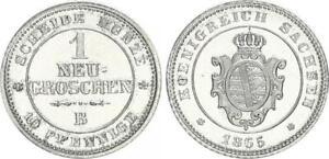 Sajonia 1 Nuevo Centavo 1865 Primer Descuento, Prfr Pieza 54638