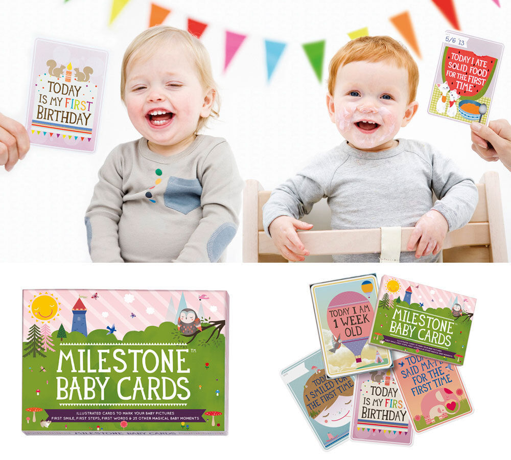 Unique New Baby Gifts Uk : Milestone baby cards unique memory photo