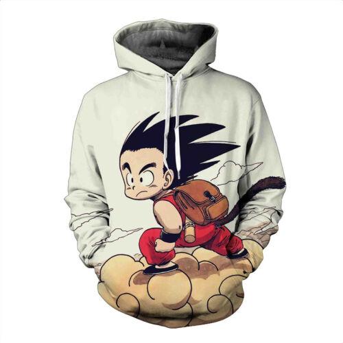 Men/'s Dragonball Z Flying Kid Goku Hoody Hoodie Coat Jumper Pullover Fashion
