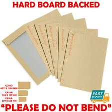 Hard Card Board Back Backed Please Do Not Bend Envelopes Manilla Brown