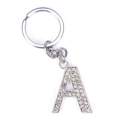 Bling Crystal Sparkly Alphabet Keyrings Initial Letter Key Rings Chain Keychain