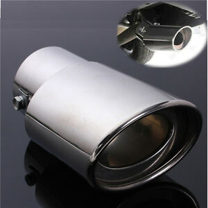 Universal-Stainless-Steel-Chrome-Rear-Round-Car-Exhaust-Tail-Muffler-Tip-Pipe