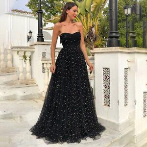624fe5ffe6d Femme Épaule Dénudée Robe de Bal Robe Longue Soirée Habillé Robes de ...