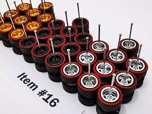 12 set GOLD RUSH MIX Samed Wheels premium rubber wheels for HW 1:64 cars