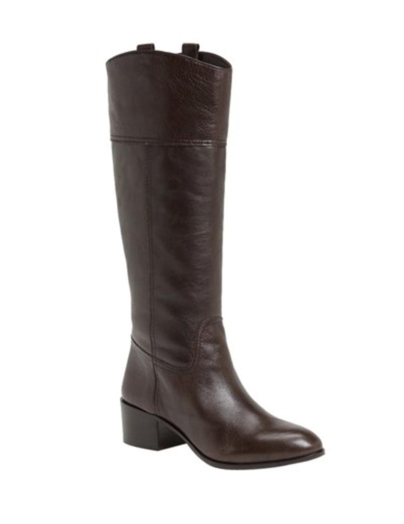 Louise et Cie Lo-Verrah Brown Pelle Donna Tall Stivali Size 8.5B 1102