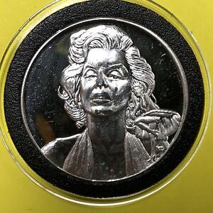 Classic Marilyn Monroe 1 Troy Oz .999 Fine Silver Round