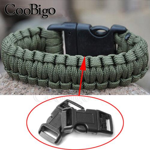 """10pcs 5//8/"""" Handcuff Key Buckle Parachute 550 Paracord Bracelets Outdoor Tactical"""