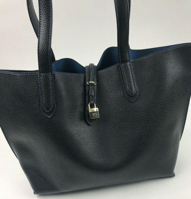 Black Babymel Grace Vegan Leather Tote Diaper Bag
