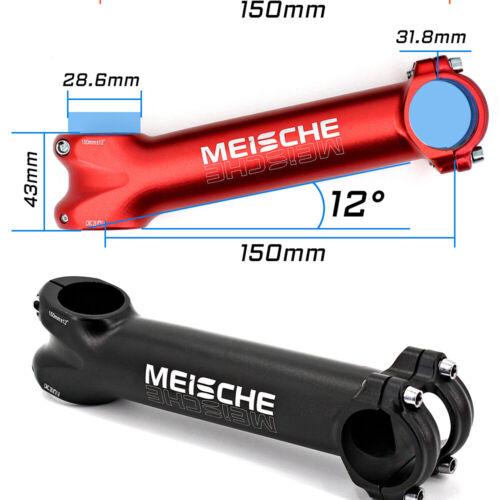 Meische MTB Road Bike Stem Riser CNC Ultra Long 31.8x150mm Bicycle Stem 12°
