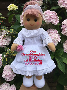 Image Is Loading Personalised Rag Doll Goddaughter Granddaughter Daughter Niece Birthday