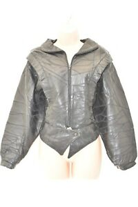 Women's Coat Uk16 Hips Size Length La Panthera Black Bomber Real Leather Jacket Nnw8kOPX0
