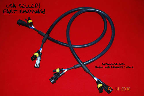2X HID Extension Ballast wires 24/'/' JDM for Honda Kia TOYOTA DODGE RAM BMW VW GM