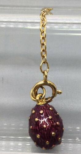 Joan Rivers Faberge Egg Pendant Charm - Red & Gold