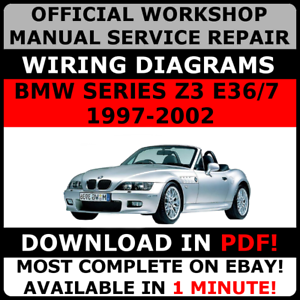 official workshop repair manual for bmw series z3 e36 7 1997 2002 rh ebay co uk 1997 bmw z3 1.9 owners manual 1997 bmw z3 1.9l roadster owners manual